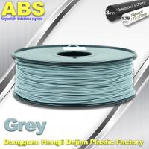 Grey  ABS 3D Printer Filament 3mm / 1.75mm 1.0 Kg / Roll Filament Manufactures