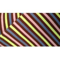 Anti - Static Nylon Spandex Bronzing Vertical Striped Fabric Plain Dyed For Bra Manufactures