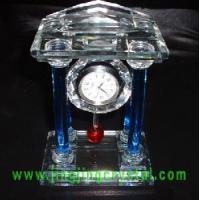 Nice Crystal Glass Table Clock Manufactures