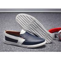 Absorbent Sweat Mens Leather Slip On Loafers Shoes Small Circular Aperture Holes