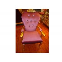 Grand Upholstered Armchair Luxury Hotel Furniture Neoclassic Style Manufactures