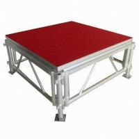 Portable Waterproof Acrylic / Plywood Temporary Stage Platforms Heavy Loading Adjustable Height Manufactures
