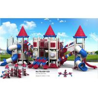 Business District Kids Outdoor Playground Equipment Amusement Facility Small Footprint