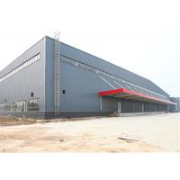 Portal Structure Prefabricated Metal Buildings , Galvanized Prefab Steel Workshop Manufactures