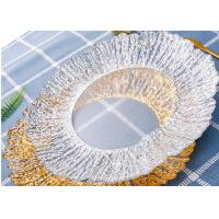 China Gold Color Plating Tree Pattern Glass Fruit Plate / Customized Clear Glass Dinnerware on sale