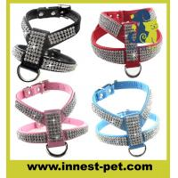 Luxury reshinestone dog products crystal pet harness Manufactures