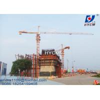 TC6515 Tower Crane Electric Power Cable 10T Load 65m Boom Length Manufactures