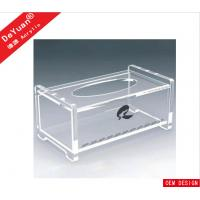 Quality Rectangle Tissue Acrylic Holder Stand With Slip - Open Cover for sale