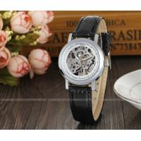 Winner Mens Automatic Watch  , Black Leather Strap Ladies Fshion Wristwatch Best Gift Gold Manufactures
