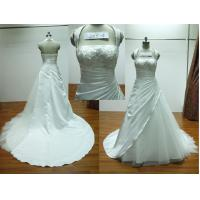 Halter Neck Pleated A-line Floor Length Real Samples Wedding Dress With Chapel Train Manufactures