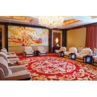 Luxury Red Contemporary Area Rug , 80% Wool 20% Nylon Hotel Carpet Manufactures