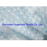 Blue Color GGT Jacquard Swiss Dot Polyester Chiffon 2400T 75D Manufactures