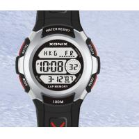 Unisex Waterproof LCD Quartz Digital Watches With Alarm PU Wristband Manufactures