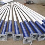 6 M ~11 M Galvanized Street Lamp Pole GB / T19001-2008 / ISO9001 Q345 3 - 30 m Manufactures