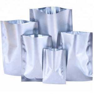Custom Clear Silver Aluminum Foil Pouch Heat Seal Aluminum Foil Bags with Tear Notch Manufactures