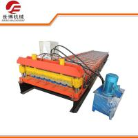 Metal Decking Floor Trapezoid Sheet Cold Roll Forming Machine PLC Control Style Manufactures