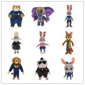China Disney Cartoon Characters Zootopia Stuffed Cartoon Plush Toys 9 inch on sale