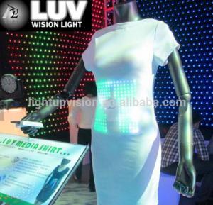 China promotional tshirts led light t-shirt,el wire shirt,custom el shirts on sale