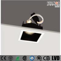 China 30 Degree Tilt MR16 Recessed LED Downlight Square Shape , Led Ceiling Downlights on sale