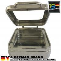 China Mordern Induction GN1/2 Small Chafing Dish With Large Glass Window Flat Lid For Food Service on sale