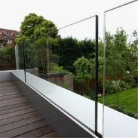 Quality Aluminum u channel frameless glass railing balustrade for glass stair deck for sale