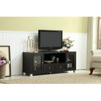 Wooden Bedroom TV Cabinet , Glass Doors Thin TV Stand With Storage Sliding Drawers Manufactures