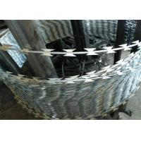 Heavy Galvanized Sharp Razor Barbed Wire For High Security Place Manufactures