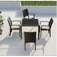 Leisure Modern PE Rattan outdoor Chair and table sets Aluminium  Garden wicker stackable Chair Manufactures