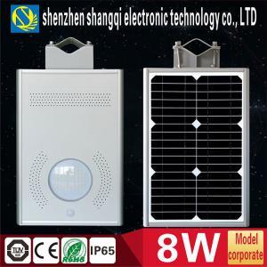High Brightness 6000k - 6500K White Solar Powered LED Garden Lights 8 Watt Manufactures