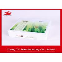 Whitening Facial Mask Metal Cosmetic Tins With Hinged Lid Cover 170 x 165 x 45 MM Manufactures