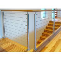 Durable Stainless Steel Wire Railing , Stainless Steel Wire Balustrade Easy Maintenance Manufactures