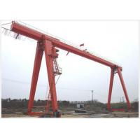 Movable 10 Ton Gantry Crane With Electric Hoist Single Girder Cabin Pendant Remote Control Manufactures