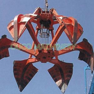 Customized 6 Rope Steel Lifting Orange Peel Grab Bucket Manufactures