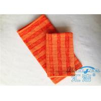 China Orange Microfiber Cleaning Cloths 80% Polyester Lint Free , Anti Static Cleaning Cloth on sale