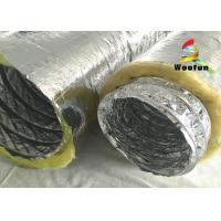 Multi Layer Aluminum HVAC Duct Insulation Wrap , Ventilation Fire Resistant Flexible Ducting Manufactures