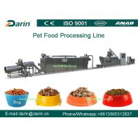 Dog Fish Cat Pet Food Extruder equipment / machine , Dry pet food machinery Manufactures