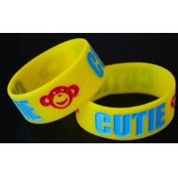 OEM Debossed Silicone Wristband, Colorful Silicone Sports Bracelets For Events Manufactures