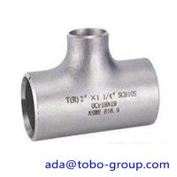 """Quality seamless Stainless Steel Tee , single slit pipe wall thickness 1 / 2 """" NPS Sch5S for sale"""