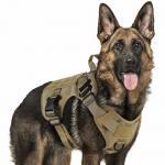Tactical Adjustable Dog Harness Vest Military Working Molle Vest Training 1050D Nylon Manufactures