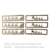 High Polished Mirror Effect Stainless Steel Christmas Bookmarks For Sale Manufactures