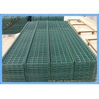 Powder Coated Wire Mesh Fence Panels , Perimeter Coated Welded Wire Fence Steel Manufactures