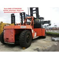 Flexible Used Container Handler , Reach Stacker Forklift Hydraulic Powered Steering Wheel Manufactures