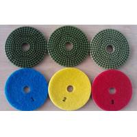Green Type 3 Steps 4 Inch Wet Diamond Floor Polishing Pads For Granite Marble Manufactures