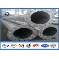Black Welding Electricity Transmission Line Steel Tubular Poles 25m with 5.0mm Thickness Manufactures