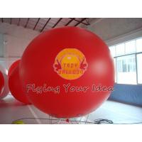 Supply Bespoke Large Red Inflatable Advertising Balloons with UV protected printing for Anniversary Events Manufactures