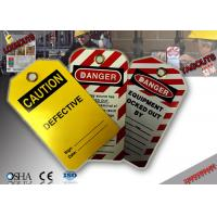 PVC Material Lockout Tagout Tags Manufactures