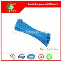 Buy cheap 7.6x400mm Black nylon66 material Self-Locking plastic wire cable tie straps from wholesalers