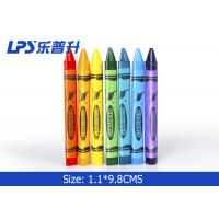 Colorful Triangle Kids Painting Tools Gel Wax Crayons Non Toxic 12 Colors Manufactures