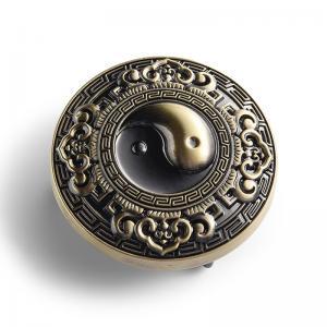 China Custom Gossip Metal Belt Buckle Feng Shui Embossed Logo Design Dia 50mm on sale
