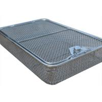 45*34cm Medical sterilization baskets Stainless Steel Wire Mesh 5mm Hole size Manufactures